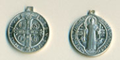 STERLING SILVER ST.BENEDICT MEDAL